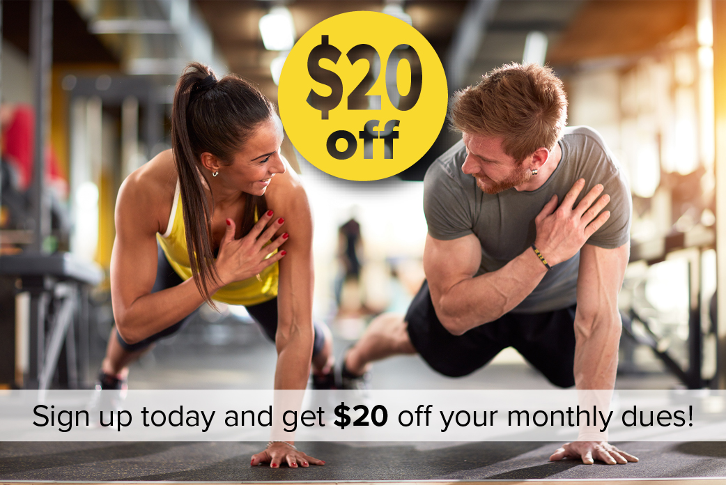 Get $20 off your monthly dues