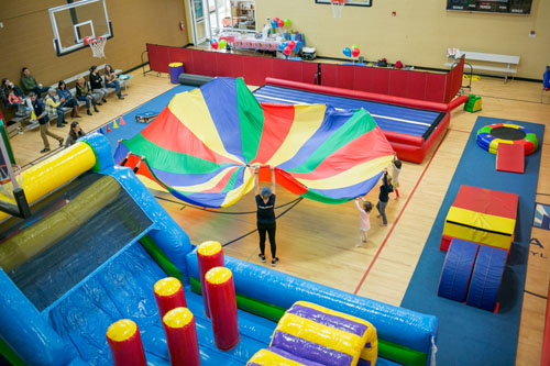 Inflatables birthday parties at Genesis Miramont South | Fort Collins, CO