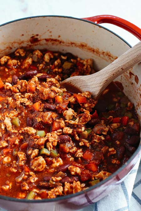 Slow Cooker Turkey Chili Recipe